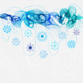 New year abstract background with wave Stock Images