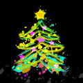 New year abstract blot furtree Royalty Free Stock Photo
