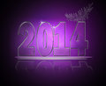 New year abstract text in glass and light effect Stock Images