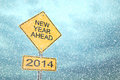 New year ahead road sign d render Royalty Free Stock Photography