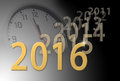 2016 new year approaching, old years fade away. Royalty Free Stock Photo