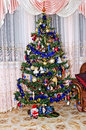 New Year background - Christmas tree Royalty Free Stock Photo