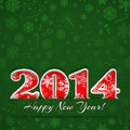 New year background with digits and snowflakes on green Stock Photography
