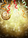 New Year background with a watch Stock Images