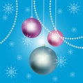 New Year balls background. Stock Image
