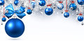 New Year banner with Christmas balls. Royalty Free Stock Photo