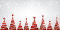 New Year banner with Christmas trees. Royalty Free Stock Photo