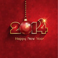New year bauble background happy with a hanging Stock Images