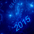 New Year Blue Fractal Background