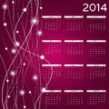 New year calendar vector illustration Stock Photos