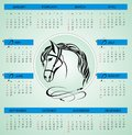 New year calendar vector illustration Royalty Free Stock Photos