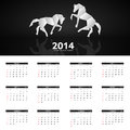 New year calendar vector illustration this is file of eps format Royalty Free Stock Images