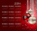 New year calendar vector illustration this is file of eps format Royalty Free Stock Photography