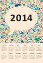 New year calendar vector illustration social media Stock Photos