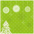 New year card light green Royalty Free Stock Images