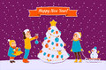 New year card ney vector with congratulation Royalty Free Stock Photography