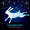 New year card with rabbit Royalty Free Stock Image