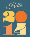 New year card retro typographic design Royalty Free Stock Images