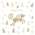 New year card with a running horse this is file of eps format Royalty Free Stock Photo