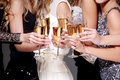 New year celebration with a glass of champagne Royalty Free Stock Photo