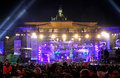 New Year celebrations in Berlin, Germany Royalty Free Stock Images