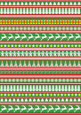 New Year, Christmas ornamental pattern Stock Images