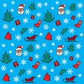 New year and christmas pattern merry Stock Photo