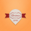New Year or Christmas realistic Banner with Ribbon Royalty Free Stock Photo