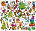 New year and christmas set Royalty Free Stock Photo