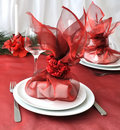 New Year or Christmas table close-up Royalty Free Stock Image