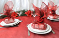 New Year or Christmas table close-up Royalty Free Stock Photo