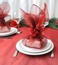 New Year or Christmas table close-up Stock Photo