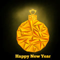 New year christmas triangle ball vector illustration Stock Photos