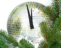 New year clock isolated on the white background Royalty Free Stock Image