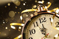 New year clock before midnight Royalty Free Stock Photo