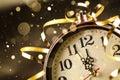 New year clock before midnight Royalty Free Stock Photo