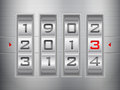 New year combination lock Stock Images