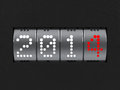 New year counter design component of a dial that is showing the three dimensional rendering Royalty Free Stock Image