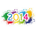 New year cute and colorful card Royalty Free Stock Photography