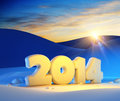 New year d render Stock Photo