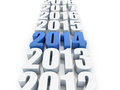 New year d render of the and other years Royalty Free Stock Photo