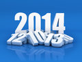 New year d render of the and other years in blue background Stock Image
