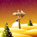 New Year Dawn Royalty Free Stock Photos