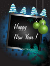 New Year decorated frame Royalty Free Stock Images