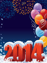 New year decoration with copy space for your message Royalty Free Stock Photo