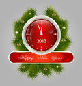 New Year decorative label Stock Photo