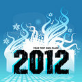 New Year Design 2012 Royalty Free Stock Photos