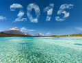 New year 2015 digits Royalty Free Stock Photo