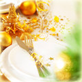 New Year dinner Stock Photography