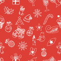 New year doodles seamless pattern vector this is file of eps format Royalty Free Stock Images